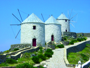 Greek Cyclades Windmills