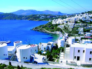 Greek Cyclades CYC view village sea