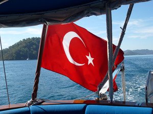 LTK Boat Turkish flag